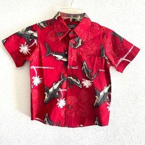 PINEAPPLE CONNECTION boys Hawaiian shark shirt-6